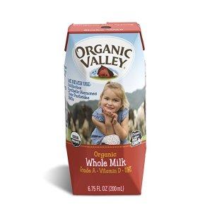 Organic Valley 有机全脂牛奶12盒x6.75oz