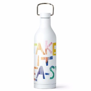 White 'Take It Tea-sy' Stainless-Steel Bottle | Teavana