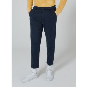 Navy Pleat Tapered Pants - New Arrivals - New In