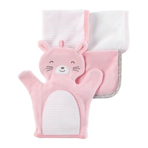Baby Girl 4-Pack Washcloths | Carters.com