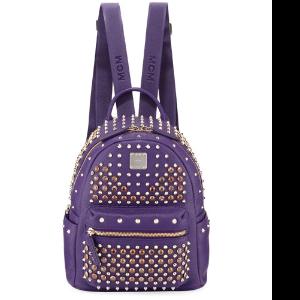 Special Stark Embellished Mini Backpack, Purple