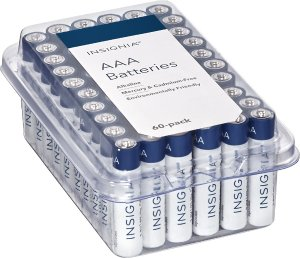 Insignia AAA Batteries (60-Pack), White / Blue