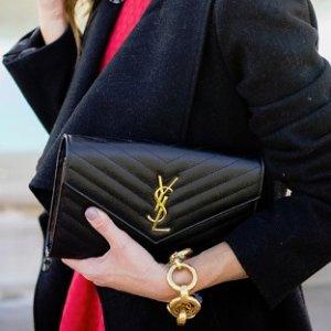 最高送$600礼卡 百搭链条包Saint Laurent 女士手袋热卖 入风琴包,极简托特包