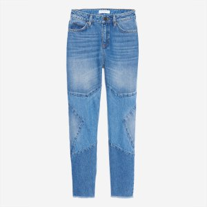 Jeans With Star Patch On The Knees