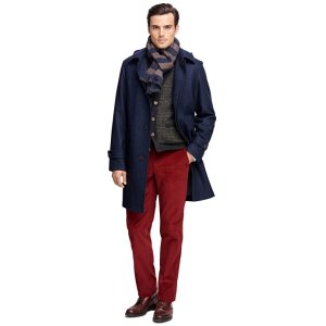 Double-Face Duffle Topcoat - Brooks Brothers
