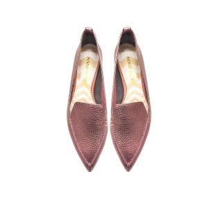 Nicholas Kirkwood Beya Dusty Pink Metallic Tumbled Leather Loafer