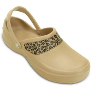 Mercy Work Leopard Graphic Clog | Comfortable Work Clogs | Crocs Official Site