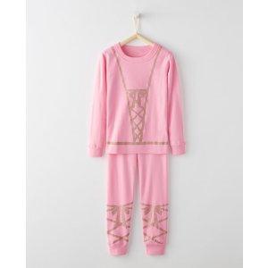 Glow In The Dark Long John Pajamas In Organic Cotton