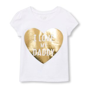 Toddler Girls Short Sleeve  'I Love My Daddy' Heart Graphic Tee | The Children's Place