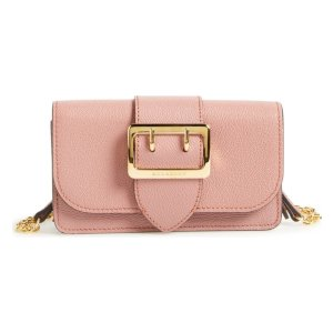 Mini Buckle Calfskin Leather Bag