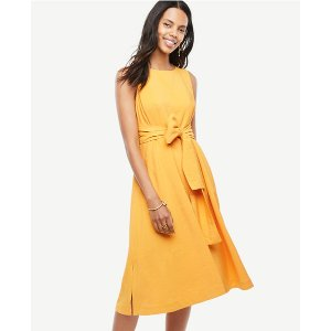 Sleeveless Belted Dress | Ann Taylor