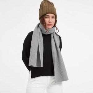 The Wool-Cashmere Rib Scarf