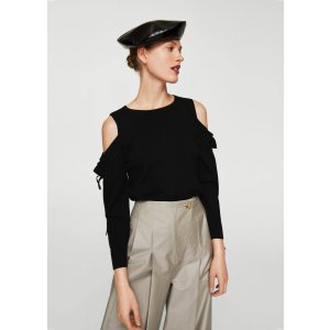 Cold-shoulder sweater - Women | MANGO USA