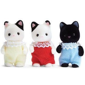 Calico Critters Tuxedo Cat Triplet Toy Set | zulily