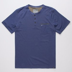 HURLEY Dri-FIT Lagos Mens Henley 279685200 | Solid + Stripe Tees