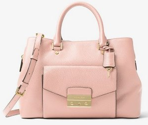 $179.2 (Org. $448)MICHAEL MICHAEL KORS  Haley Large Leather Satchel @ Michael Kors