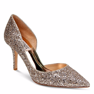Daisy Glitter Half d'Orsay Pointed Toe Pumps