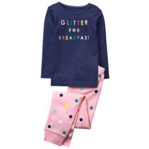 Glitter For Breakfast 2-Piece Pajama Set