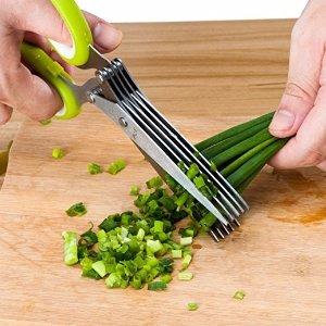 Herb Scissors, X-Chef Kitchen Scissors 5 Blades Stainless Steel