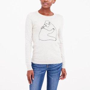 Bear hug intarsia sweater