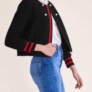 VOLTALI Tweed cropped jacket