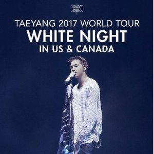 公布中奖名单,评论送门票BIGBANG 太阳 2017 世界巡回演唱会《WHITENIGHT》加拿大8月30日强势开唱