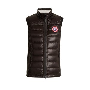 Hybridge hooded quilted-down gilet