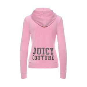 LOGO VELOUR VARSITY COUTURE ROBERTSON JACKET - Juicy Couture