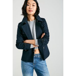 HATHERSHAW CROPPED TRENCH COAT | JackWills US