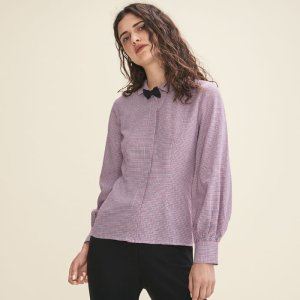CALAO Micro-checked shirt
