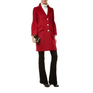 Burberry Bell Sleeved Wool And Cashmere Coat