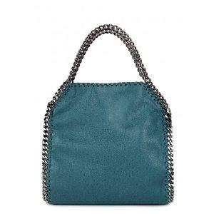 Stella McCartney Falabella mini teal faux suede shoulder bag
