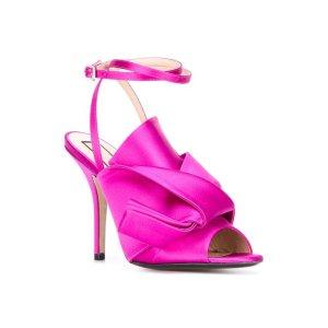 Nº21 Knotted Satin Sandals - Farfetch