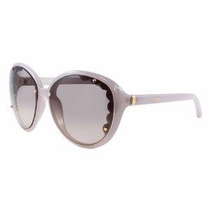 Chloé Pearl Scallop Oversize Sunglasses | zulily