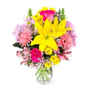 Joyful Spring Bouquet (with vase) - Sam's Club