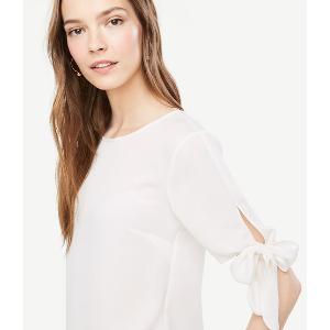 Tie Sleeve Blouse | Ann Taylor