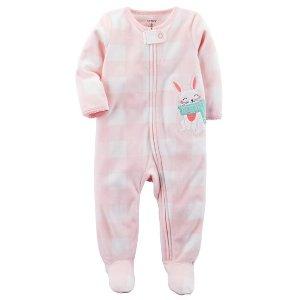 Bunny Zip-Up Fleece Sleep & Play