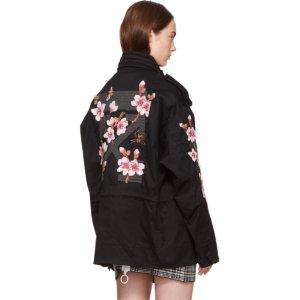Off-White - Black Diagonal Cherry M65 Jacket