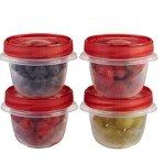 Rubbermaid TakeAlongs 圆形食物储存盒4件套