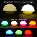 Anpress Tumbler Mushroom Design Colorful Night Light Touch Sensor Dimmable LED Nightlights with Softlight,Stronglight and 7 Colorful Light Best Gift for Baby Room, Bedroom, Nursery, Outdoor (Yellow