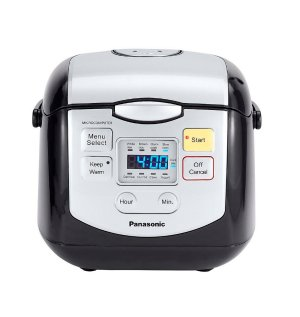 $89Panasonic 4 Cup (uncooked) Microcomputer Controlled Rice Cooker SR-ZC075K