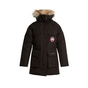 Expedition fur-trimmed down coat
