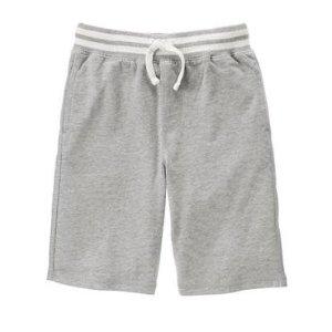 Boys Heather Grey Jogger Shorts by Gymboree