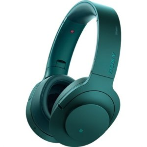 BuyDig.com - Sony MDR100 h.Ear on Wireless NC On-Ear Bluetooth Headphones w/ NFC - Viridian Blue