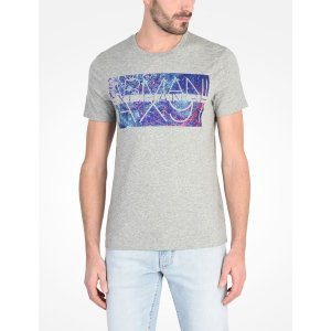 Armani Exchange MUTLI COLOR MARBLE PRINT TEE, Logo Tee for Men - A|X Online Store