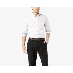 Essential Poplin Shirt, Standard Fit | WHITE | Dockers® United States (US)