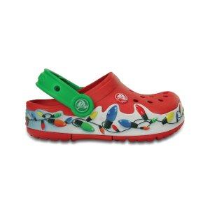 Red & Green CrocsLights Holiday Clog