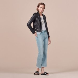 PRUDY Flared cotton jeans - Pants & Jeans - Maje.com