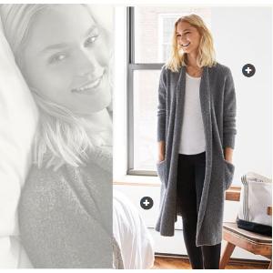 Women's Merino Blend Boucle Cardigan Sweater