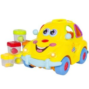 Best Choice Products Electric Toy Car w/ Flashing Front & Back Lights and Music, Bump'n'Go, Shape Sorter - Walmart.com